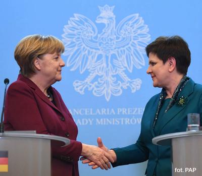 Spotkanie polsko-niemieckie Merkel-Szydło - fot. PAP